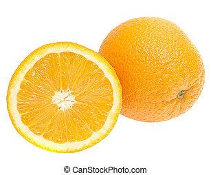 Frische Orangen im weißen Hintergrund isoliert