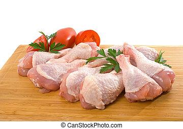 Frische rohe Hühnerbeine
