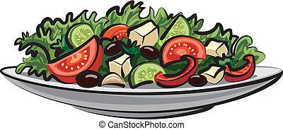 frisches gemüse, salat