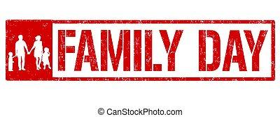 Frohes Familientagszeichen oder Stempel.