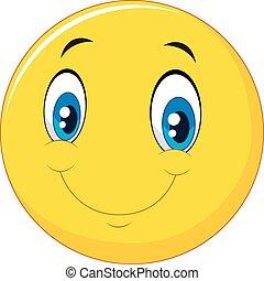 Frohes Lächeln, Emoticon.