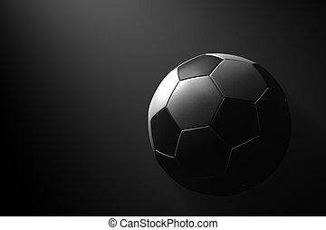 Fußball auf schwarzem Hintergrund