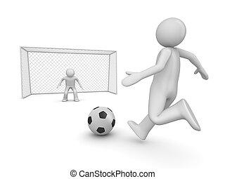 Fußball im Strafraum