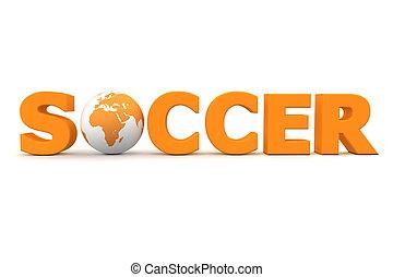 Fußballwelt orange