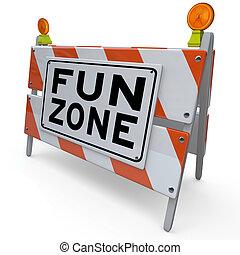 Fun-Zone-Verbarrungszeichen für Kinder