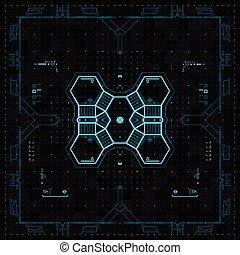 Futuristische grafische Benutzeroberfläche.