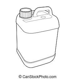 gallone, vektor, grobdarstellung, plastik