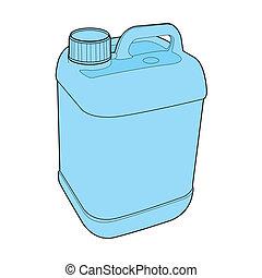 gallone, vektor, plastik