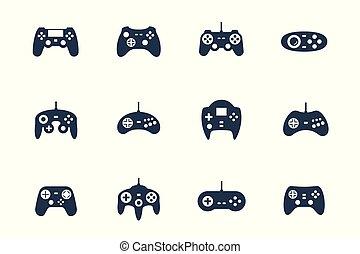 Gamepads Vektor Icon Set.
