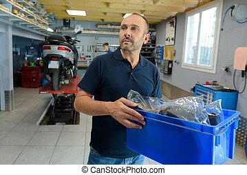 garage, automechaniker