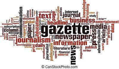 Gazette Wortwolkenkonzept