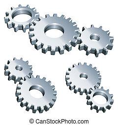gears., metall