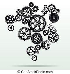 Gearwheel-Mechanismus Hintergrund