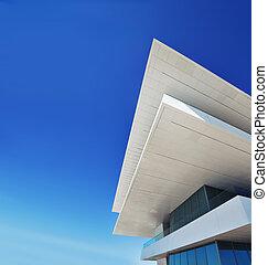gebäude, kopie, moderne architektur, raum