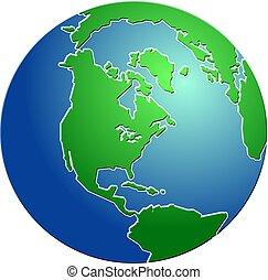 Gebogener Globus