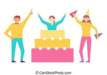 Geburtstagsfeiern von Leuten, die Spaß haben.
