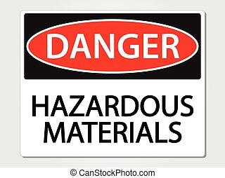 gefährliche materialien, zeichen