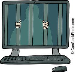 Gefangener in einem Computer
