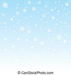 gefrorenes, weihnachten, hintergrund, schneeflocken