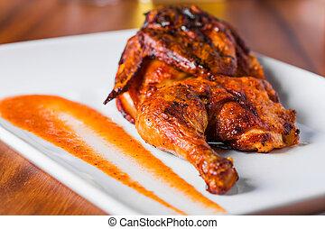 Gegrillte Hühnerplatte.