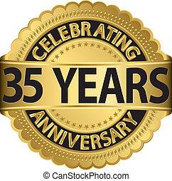 gehen, feiern, jubiläum, 35, jahre