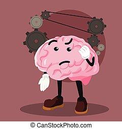 Gehirn-Denk-Vektor-Darstellung.
