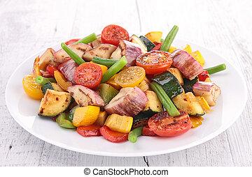 Gekochtes Gemüse.