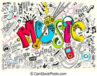 gekritzel, musik