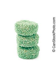 Gelatine basierte Süßigkeiten isoliert.