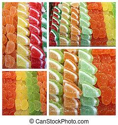 Gelatine-Süßigkeiten.