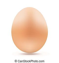 Gelbes Ei auf weiß