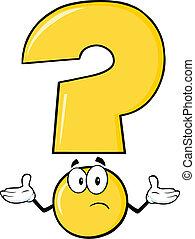 Gelbes Fragezeichen