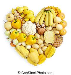 Gelbes gesundes Essen