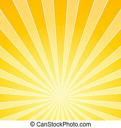 Gelbes Lichtstrahlen