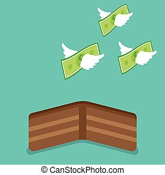 Geld aus der Brieftasche