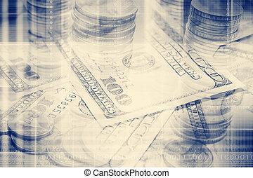 geld, gefiltert, l, hintergrund, begriff