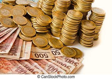 geld, mexikanisch, los, pesos