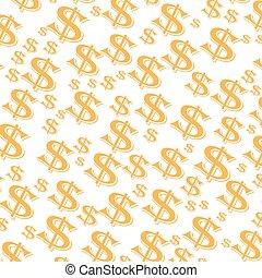 Gelddollar Illustration.