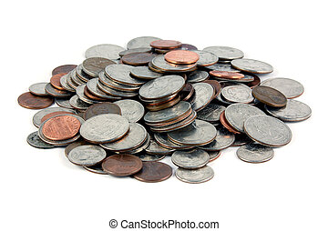 geldmünzen, haufen