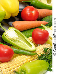 Gemüse sammeln