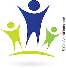 Gemeinschaft - Erwachsenen und Kinder