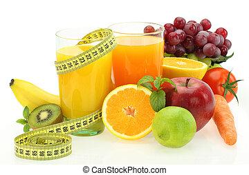 gemuese, diät, saft, früchte, frisch, nutrition.