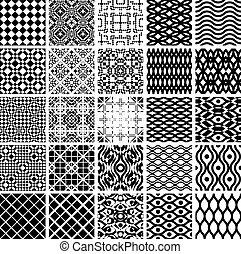 geometrisch, satz, patterns., seamles