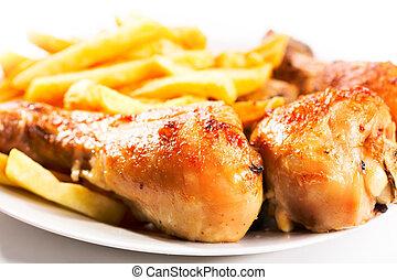 Geröstetes Hühnerbein