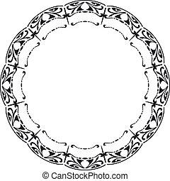 Gerundeter Rahmen im Stil von Art Nouveau.