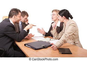 Geschäftliche Verhandlungen