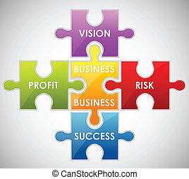 Geschäfts-Puzzle