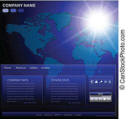 Geschäfts-Website-Schrift