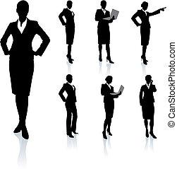Geschäftsfrau Silhouette-Sammlung