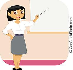Geschäftsfrauenpräsentation